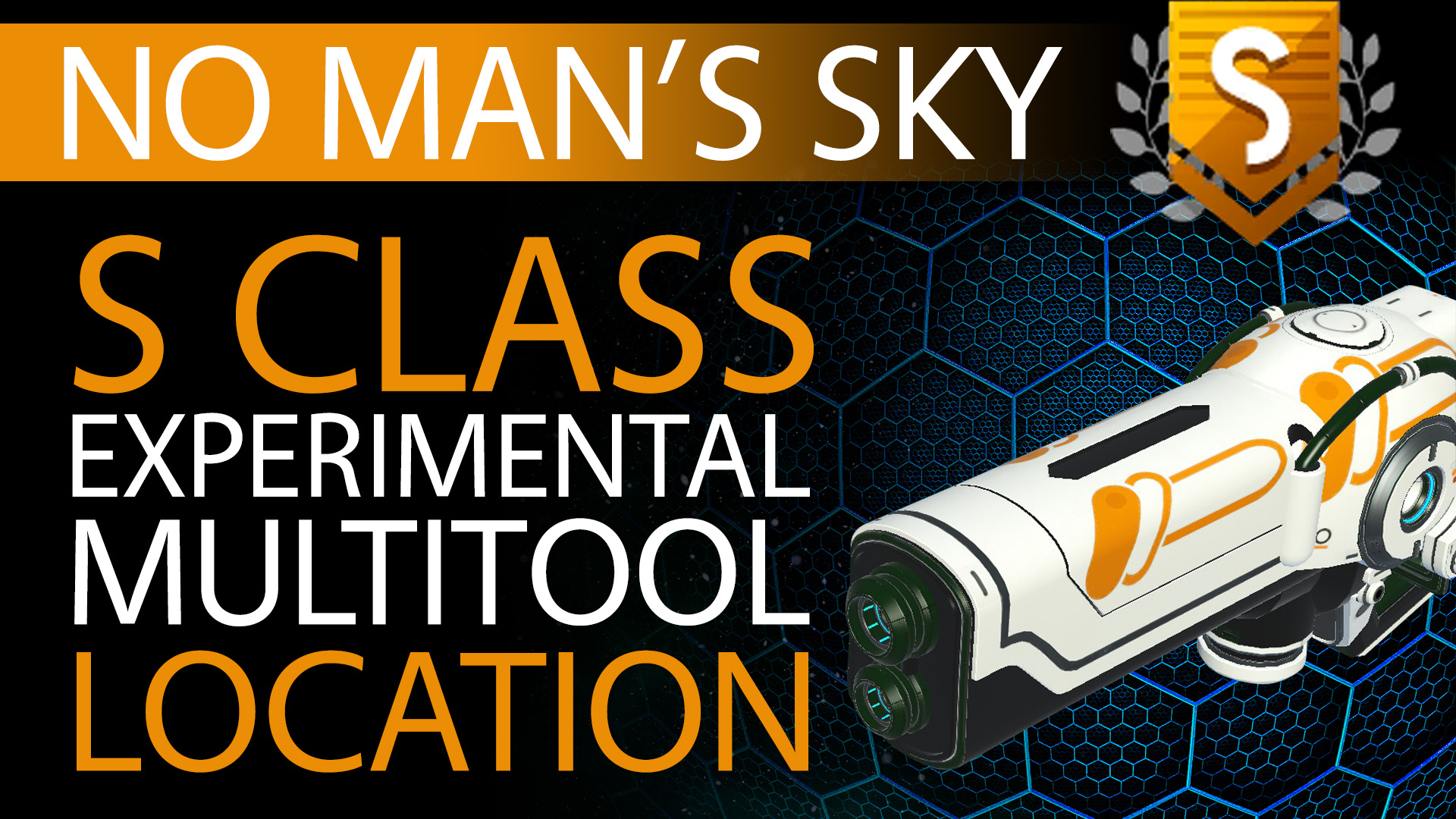 01 No Man's Sky Orange Decal S Class Experimental Multitool - Available to ALL - Xaine's World NMS Thumbnail