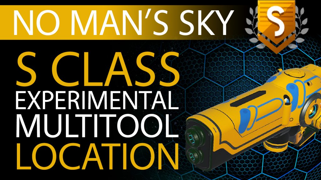 07 No Man's Sky Yellow, Blue Decal S Class Experimental Multitool - Available ALL - Xaine's World NMS Thumbnail