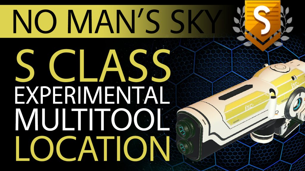 09 No Man's Sky White, Yellow Decal S Class Experimental Multitool - Available ALL - Xaine's World NMS Thumbnail