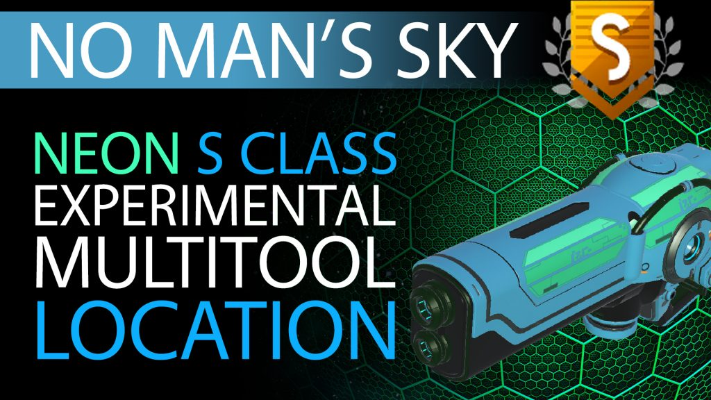 18 No Man's Sky Neon Blue & Green S Class Experimental Multitool - Available to ALL - Xaine's World NMS Thumbnail