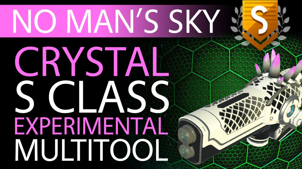 26 No Man's Sky Pink-Grey Crystal S Class Experimental Multitool - Available to ALL - Xaine's World NMS Thumbnail
