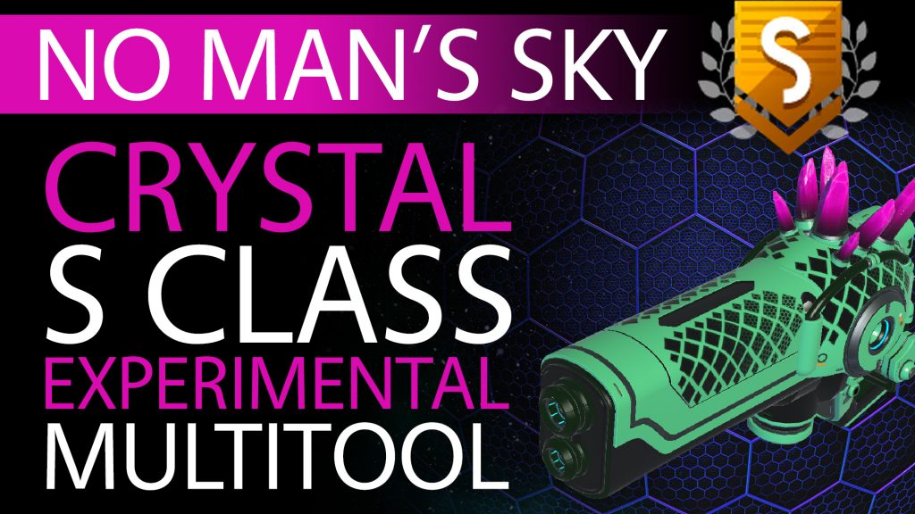 28 No Man's Sky Cyber Punk Crystal S Class Experimental Multitool - Available ALL - Xaine's World NMS Thumbnail