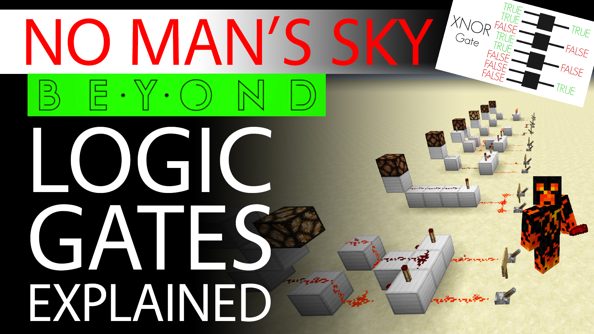 No Man's Sky Beyond Brings Logic Gates - Logic Gates 101 with Bonus Minecraft Redstone Examples Thumbnail