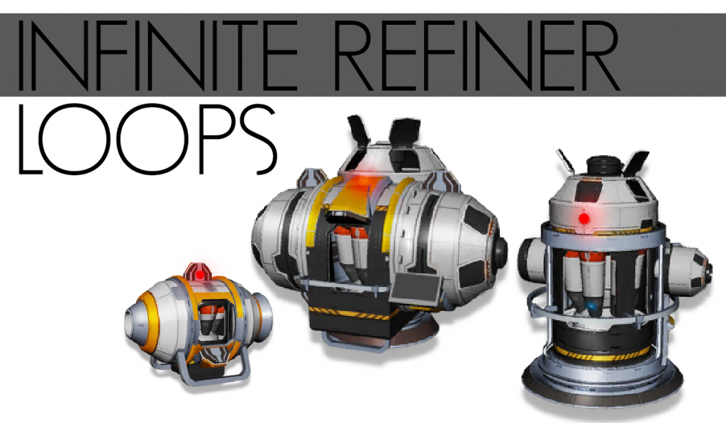 No Man's Sky Refining Portable, Medium and Large Refiners