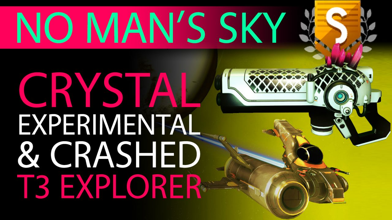 No Man's Sky S Class Crystal Experimental and Max Slot Crashed Ship Explorer - Xaine's World NMS Thumbnail