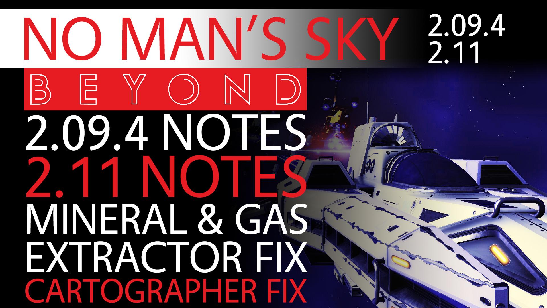 No Man's Sky Beyond News 2.09.4 & 2.09.5 Patch Notes - Extractor Fix, Cartographer Navigation Data+